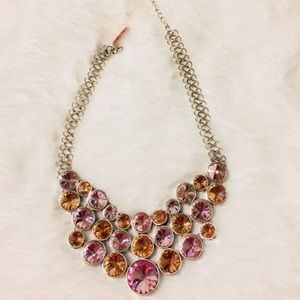 Jewelry - Necklace:🔥2/$40 Simulated Pink Sapphire Bib